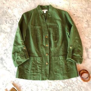 Linen & Cotton Field Jacket